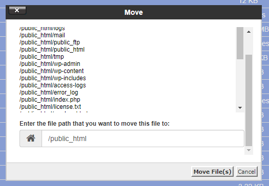 Click on Move on top and click on Move Files