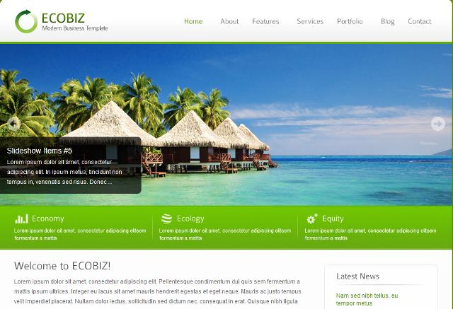 Go Green, Environment WordPress Theme With 6 Custom Skins