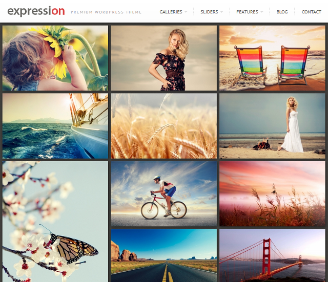 Responsive Photography WordPress Theme With Lightbox Gallery