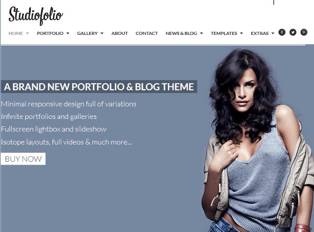 Responsive Portfolio WordPress Theme With Fluid Width Layout