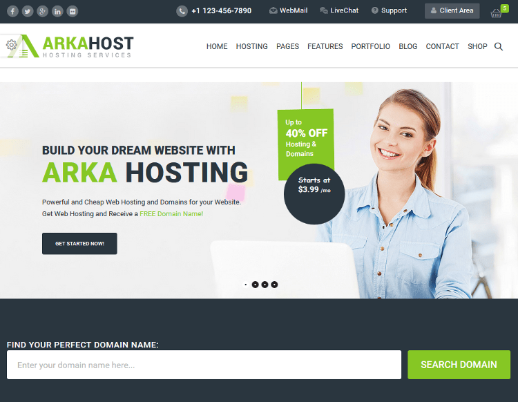 Arka Host WordPress Theme