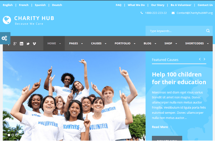 Charity Hub WordPress Theme