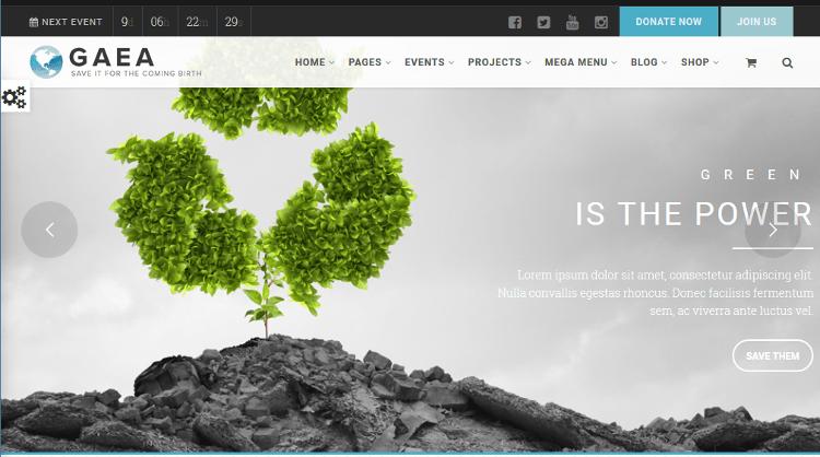 Gaea WordPress Theme