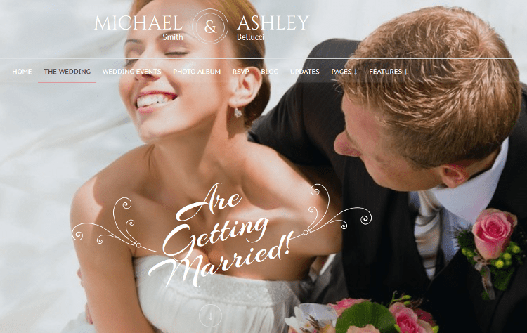 Honeymoon & Wedding WordPress Theme