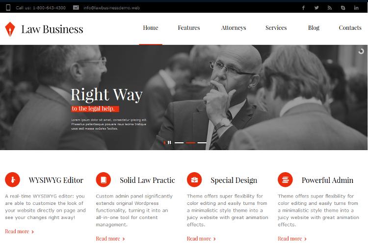 LawBusiness WordPress Theme