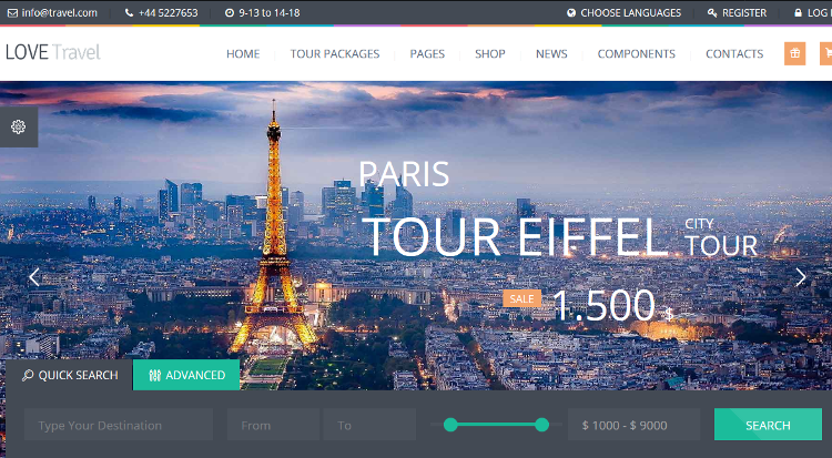 Love Travel WordPress Theme