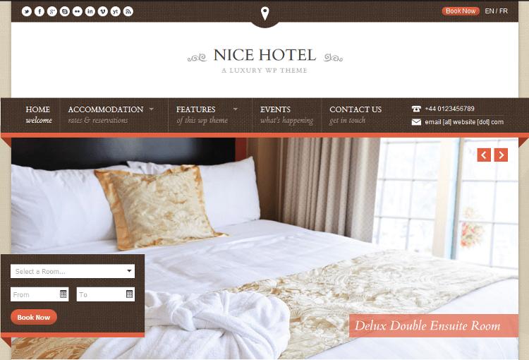 Nice Hotel WordPress Theme