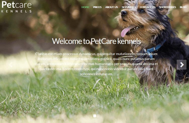 PetCare WordPress Theme