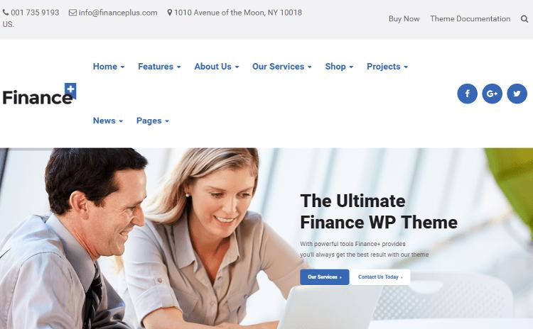 FinancePlus Business WordPress Theme