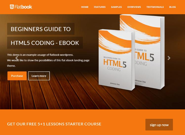 FlatBook WordPress Theme