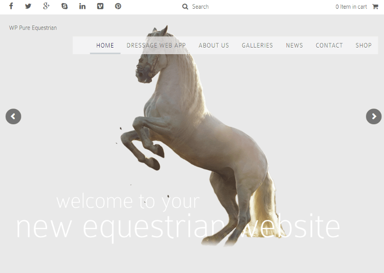 Pure Equestrian WordPress Theme
