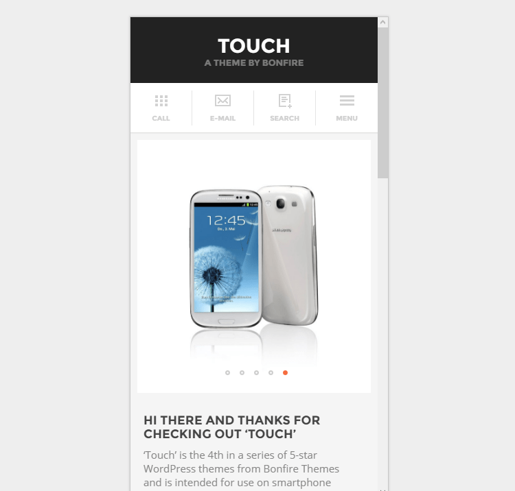 TOUCH WordPress Theme