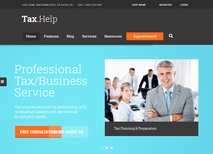 Tax Help WordPress Theme
