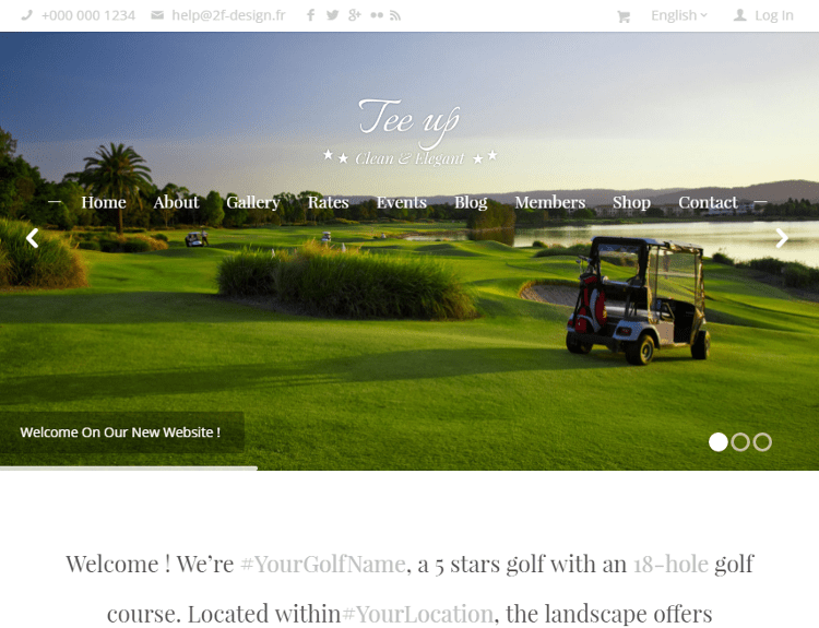 Tee Up WordPress Theme