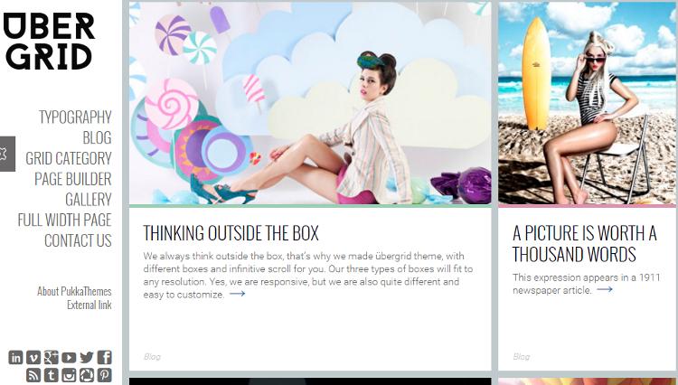 Ubergrid WordPress Theme