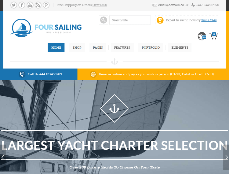 456 Sailing WordPress Theme