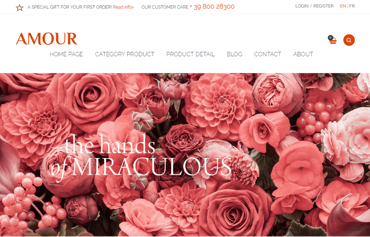 Amour WordPress Theme