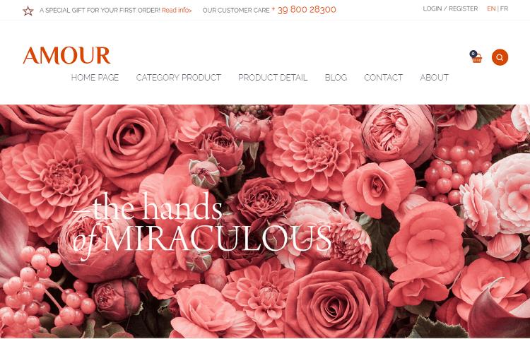Amour WordPress Theme