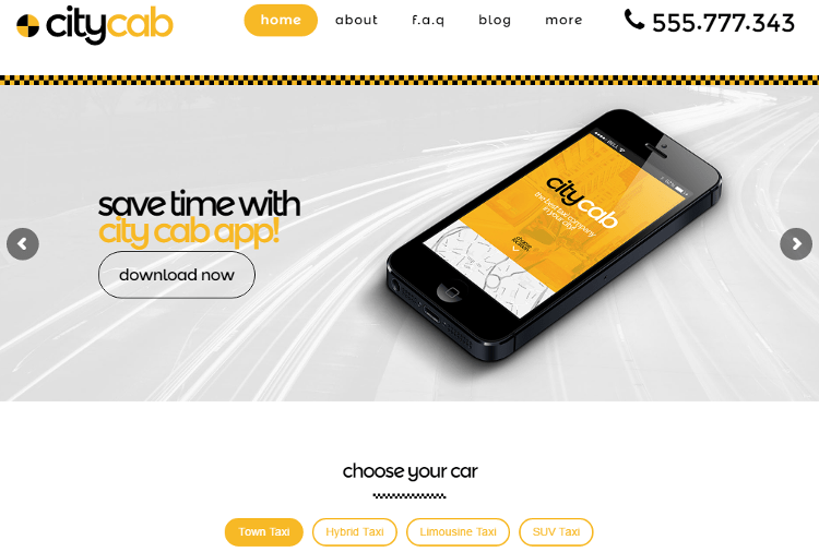 CityCab WordPress Theme