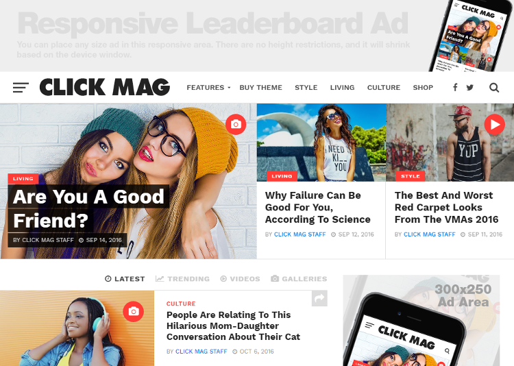 Click Mag WordPress Theme