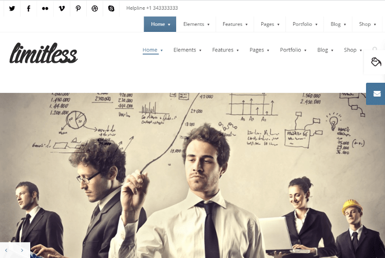 Limitless WordPress Theme