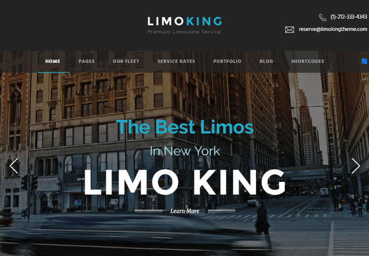 Limo King WordPress Theme