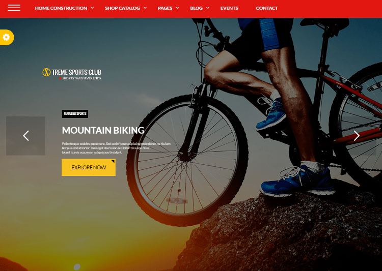 Xtreme Sports WordPress Theme