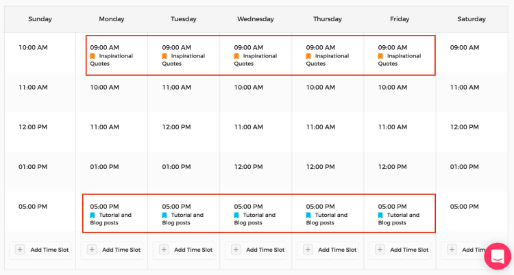 Customize posting schedule with category labels