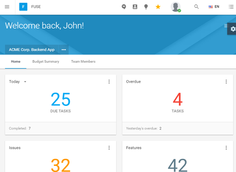Fuse AngularJS Material Design HTML5 Admin Dashboard Template