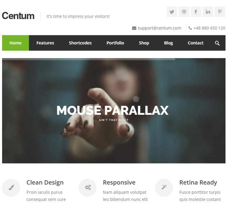 Centum HTML5 Template