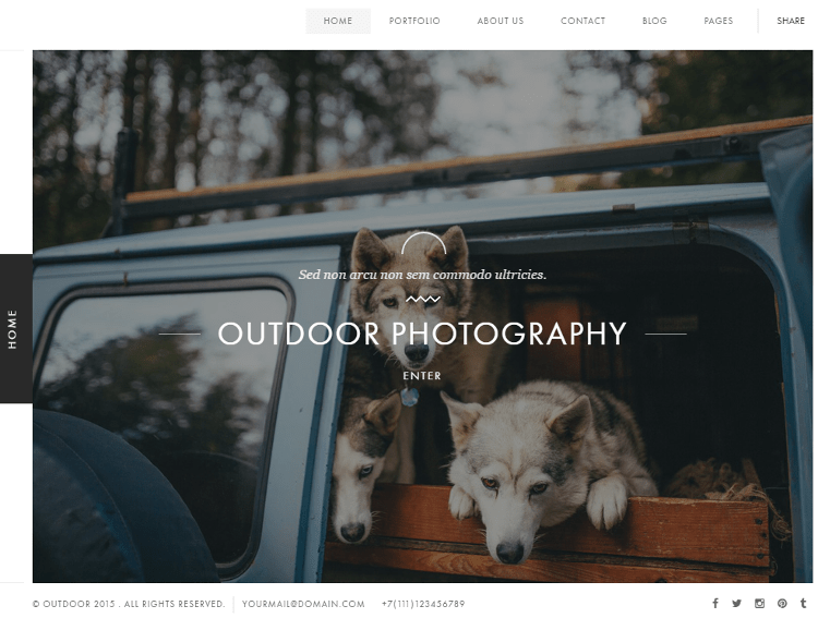 Outdoor HTML5 Template