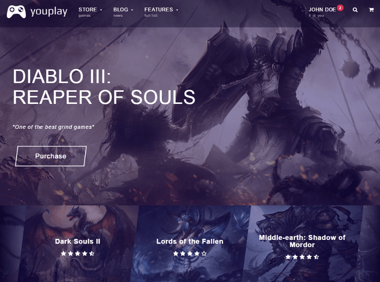 Youplay HTML5 Template