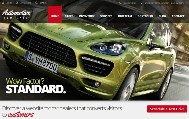 Automotive HTML5 Template