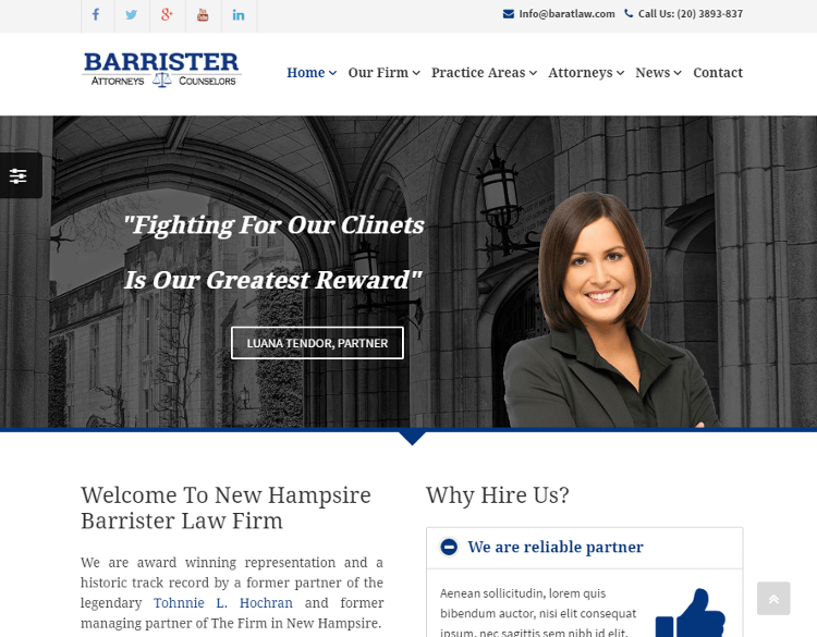 Barrister HTML5 Template