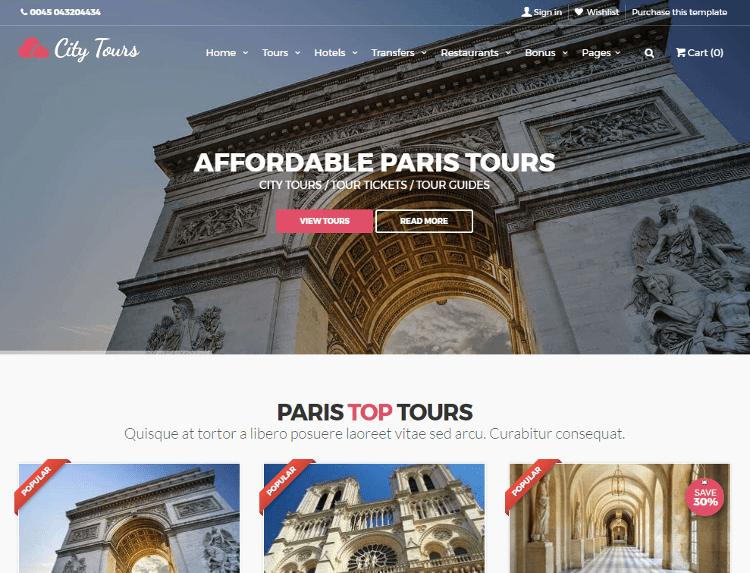 CityTours HTML5 Template