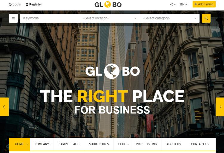 Globo HTML5 Template