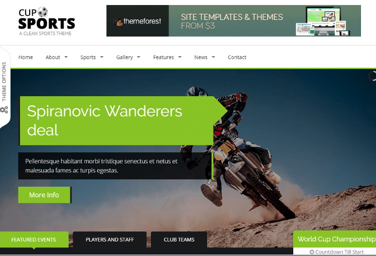 Sports Cup HTML5 Template