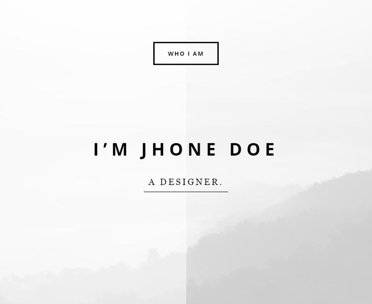 Who I am HTML5 Template