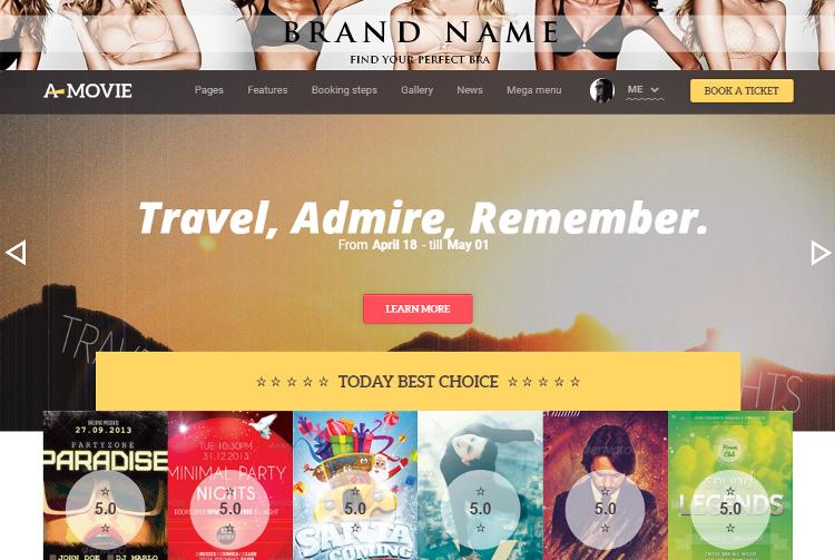 A.Movie HTML5 Template