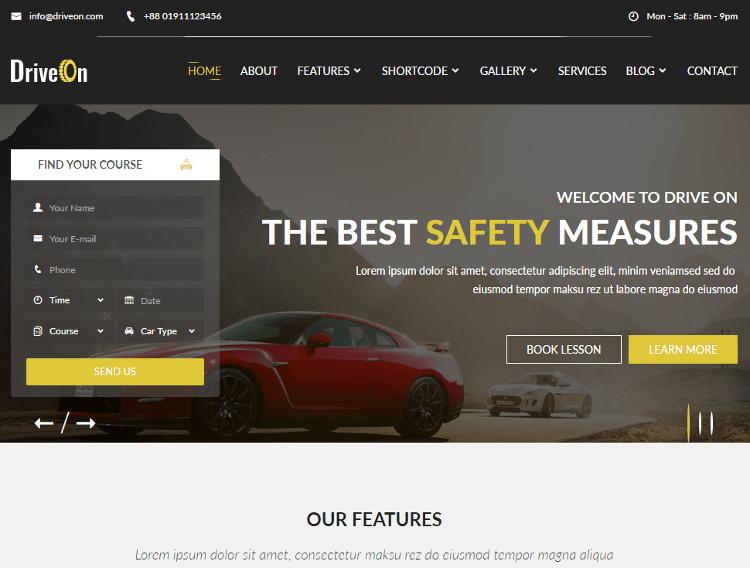 DriveOn HTML5 Template
