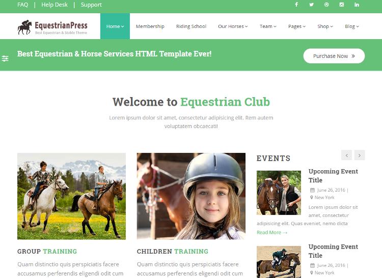 EquestrianPress HTML5 Template
