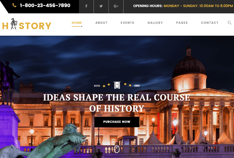 History HTML5 Template