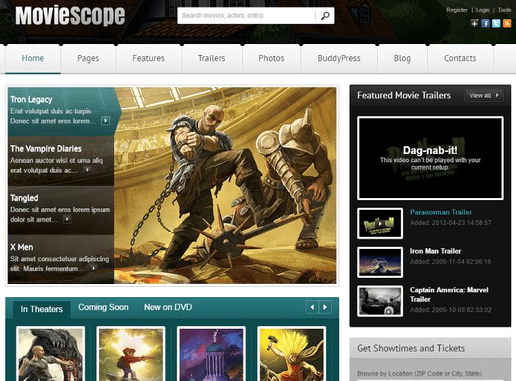 MovieScope HTML5 Template