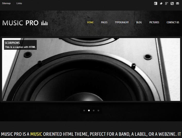 Music Pro HTML5 Template
