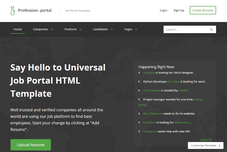 Profession HTML5 Template