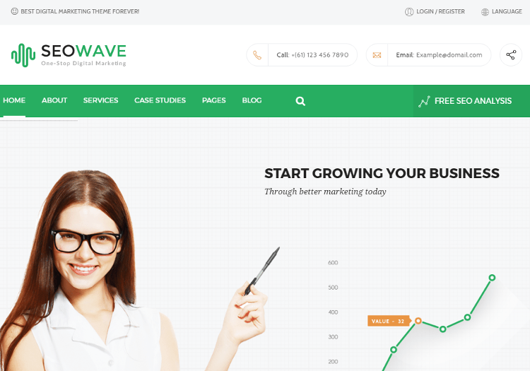 Seo Wave HTML5 Template
