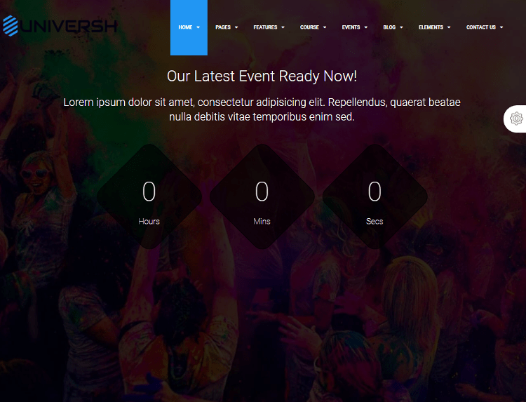 Universh Events Drupal Theme