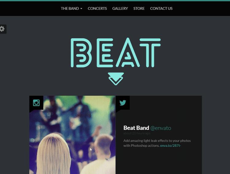 Beat Joomla Template