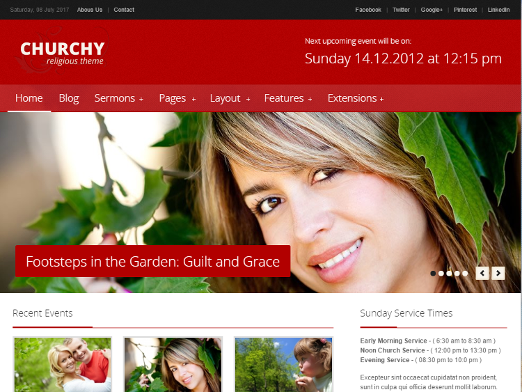 Churchy Joomla Template