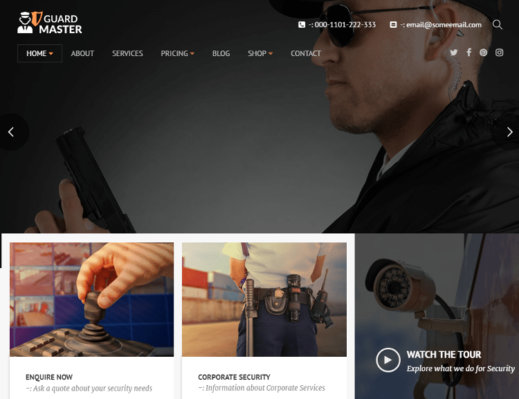 Guard Master WordPress Theme